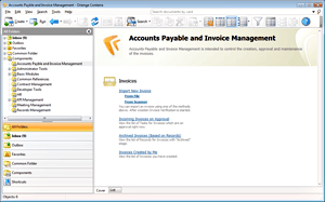 Accounts Payable and Invoice Management screen