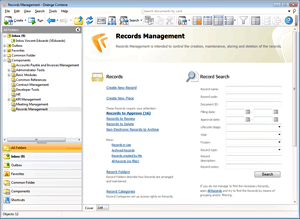 Records Management screen